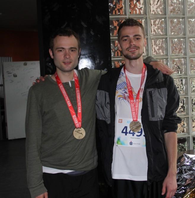 Z bratem pomaratonie - każdemu potrzebna jest dawka motywacji :)