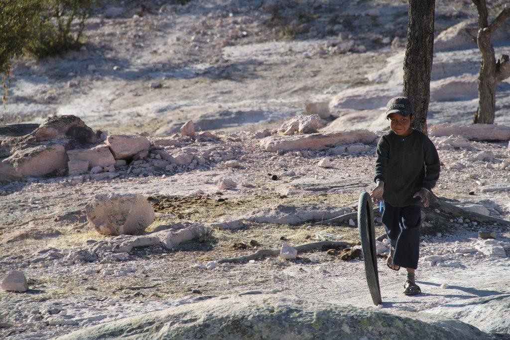Chłopiec zplemienia Tarahumara