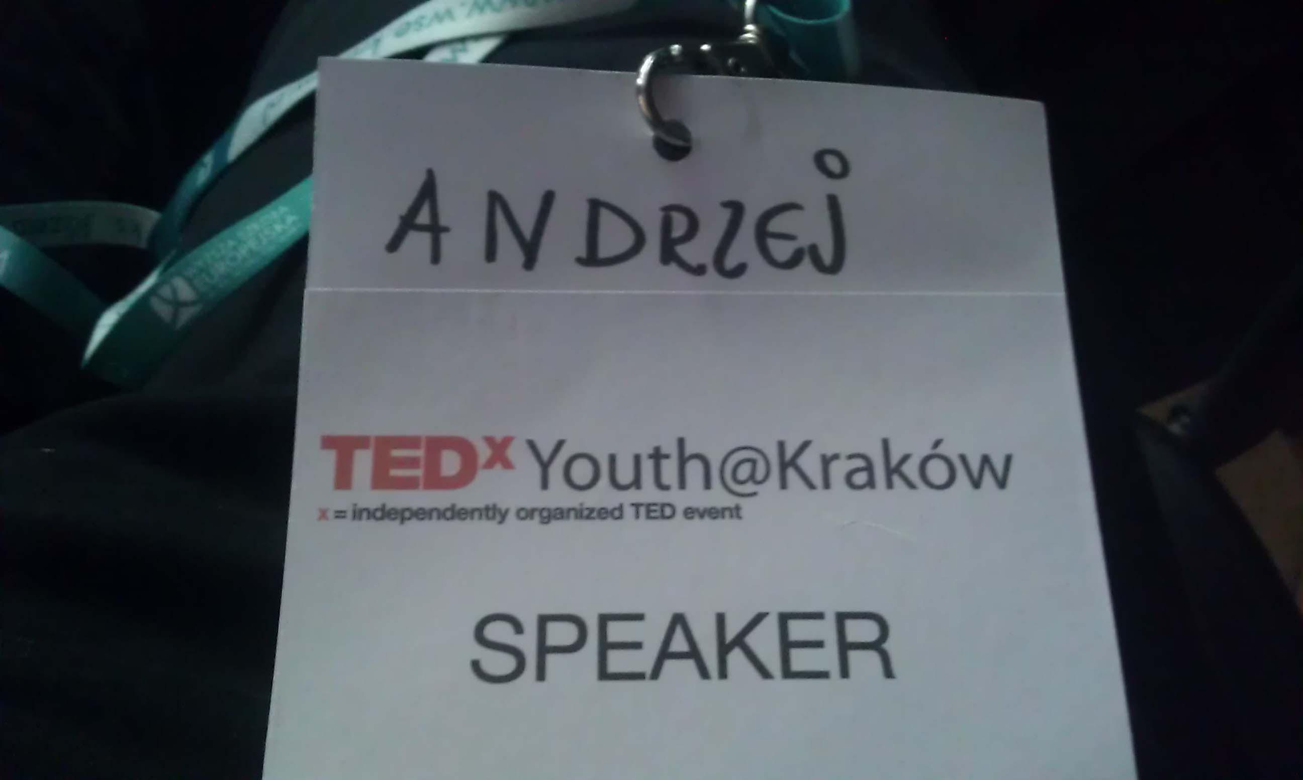 TEDxYouth@Kraków - mójidentyfikator