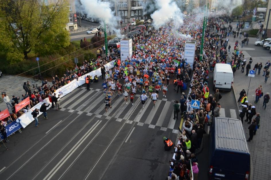 Początek 13. Maratonu Poznańskiego