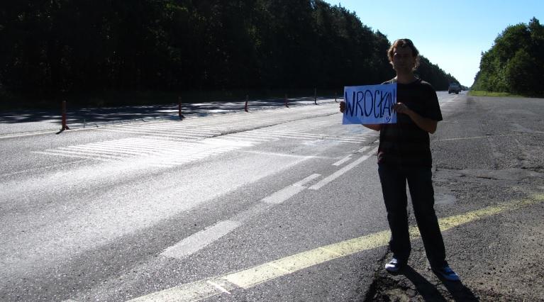 podróże autostopem - Polska