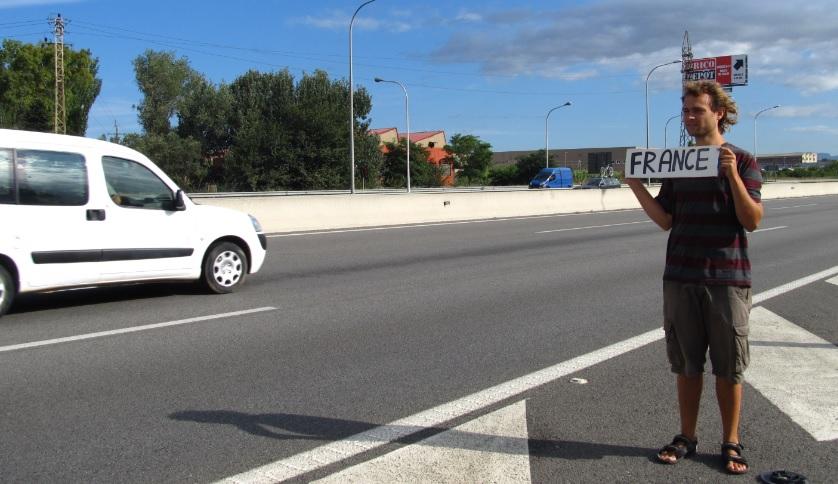 podróże autostopem - Włochy