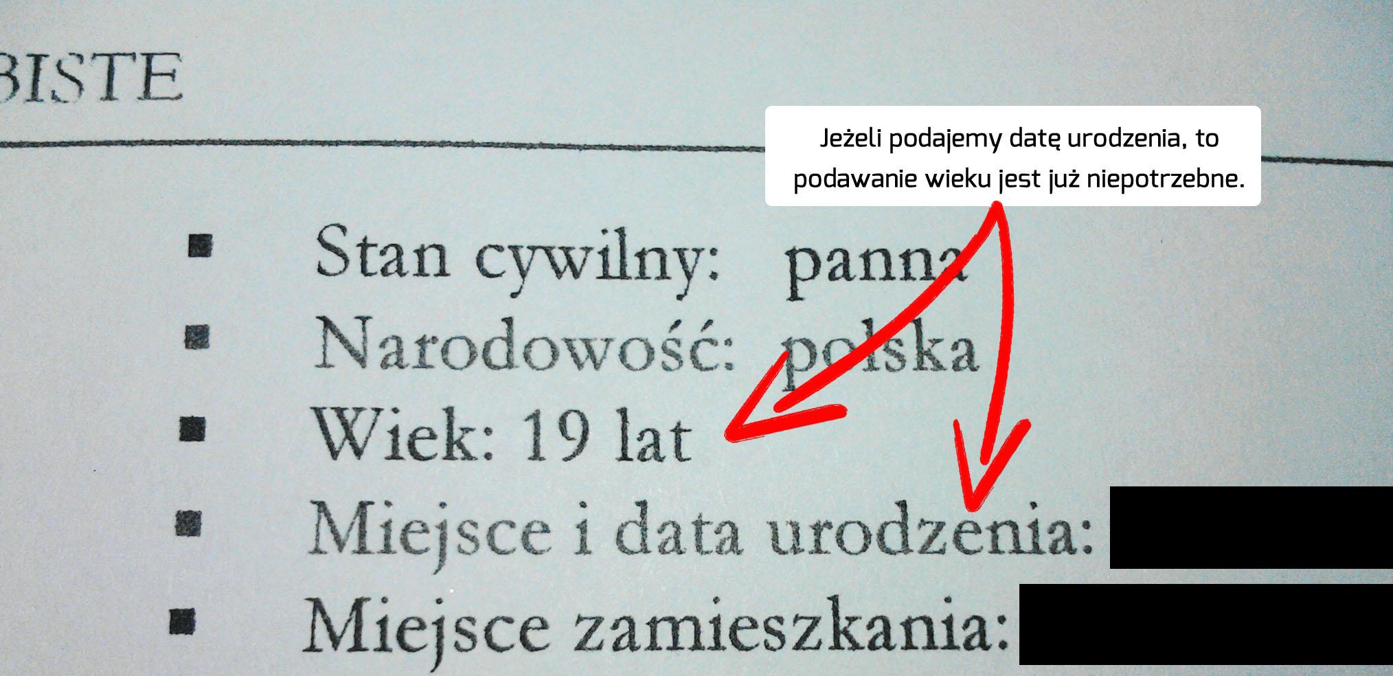 jak napisać skuteczne CV - dane www.jamowie.to - Jamówię.to