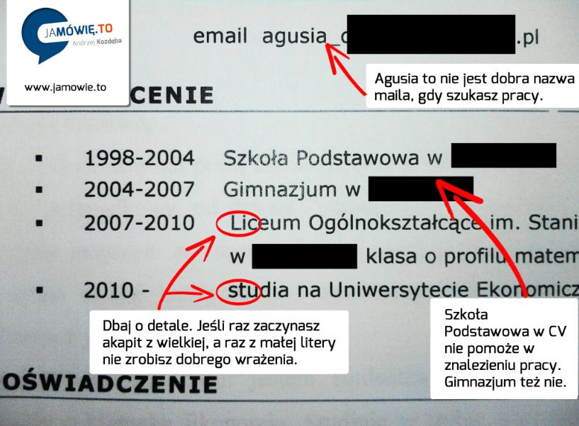 jak napisać skuteczne CV -www.jamowie.to - Jamówię.to - małe