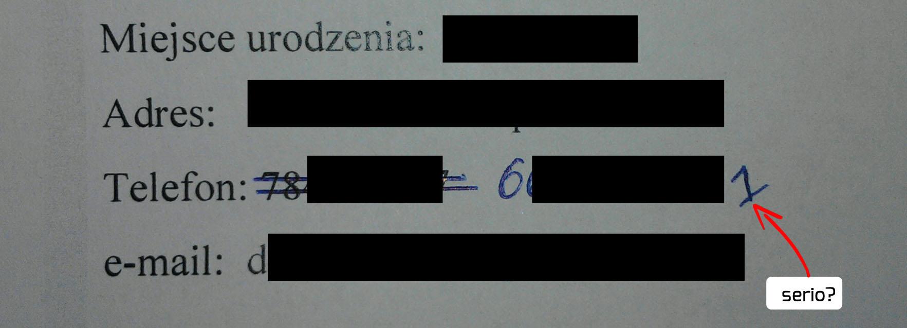 jak napisać skuteczne CV - zamazane dane www.jamowie.to Jamówię.to