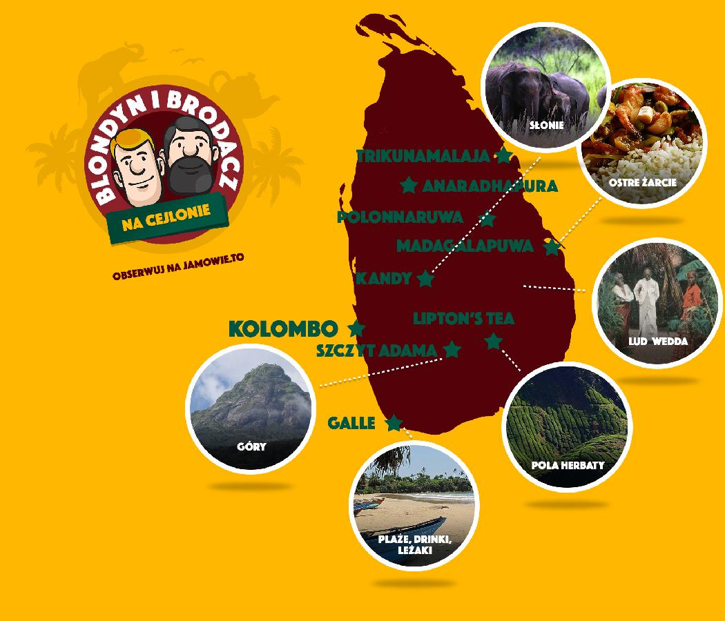 Sri Lanka - mapa podróży Ja mówię TO