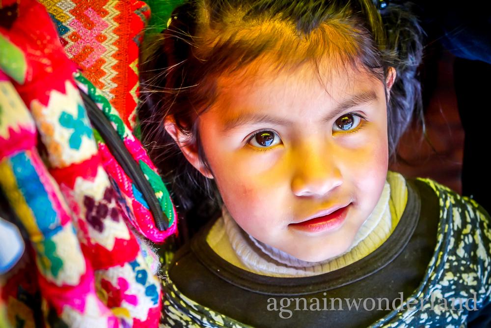 Peruwiańska dziewczynka