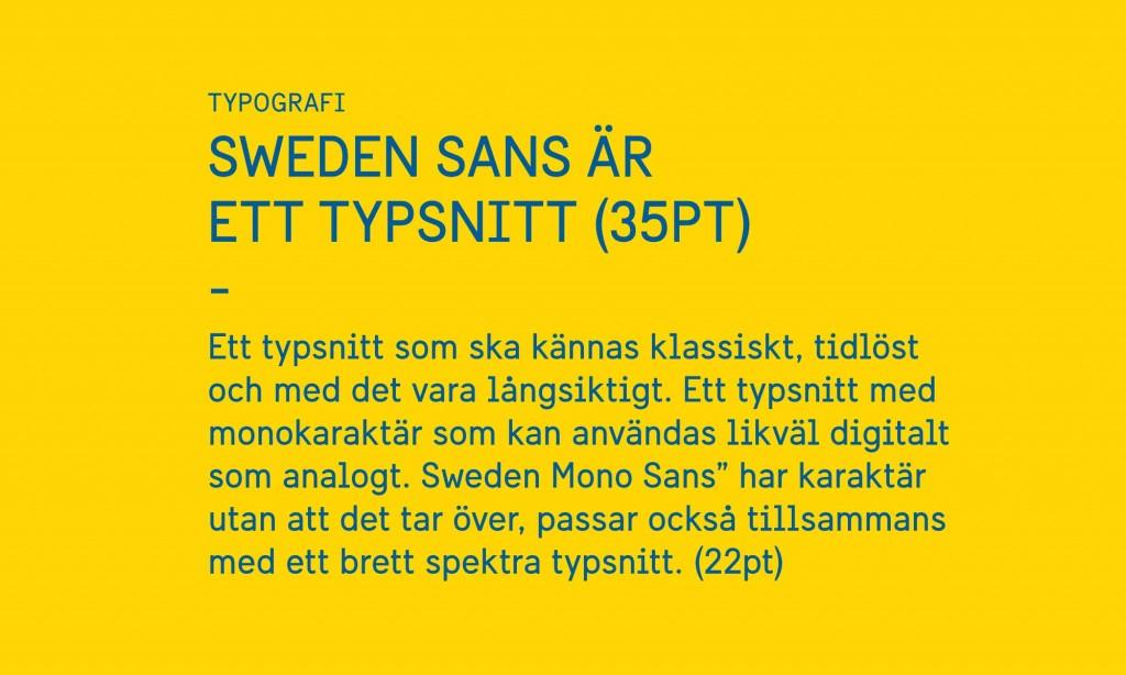 Sweden Sans - Szwecki font narodowy - Ja mówię TO http://jamowie.to