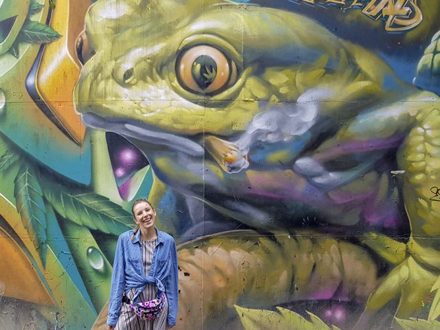 Wolne Miasto Christiania, Kopenhaga - street art - Ja mówię TO